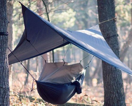 Hanging a hammock