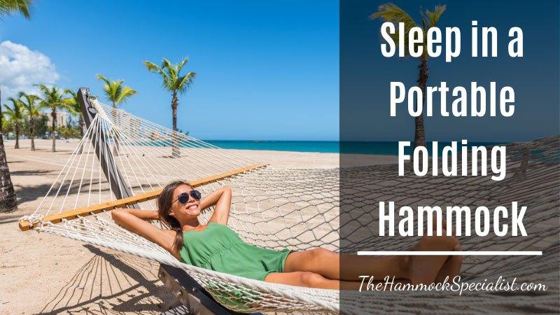 portable folding hammock