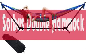 Sorbus Double Hammock with Steel Stand Two Person Review