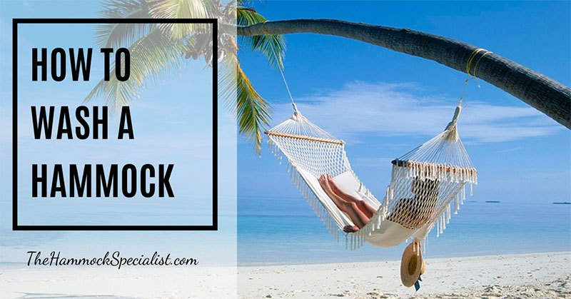 how to wash a hammock