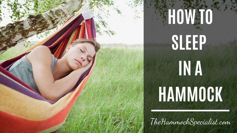 how to sleep in a hammock